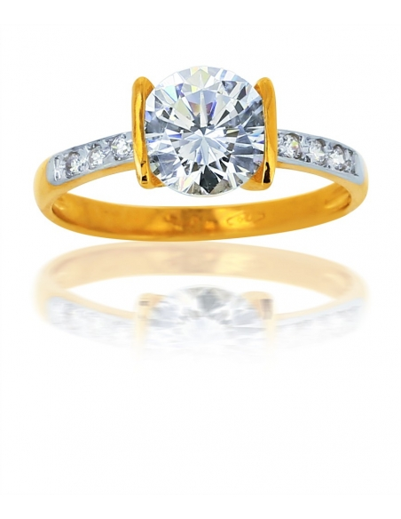 Solitaire Or Jaune 18 Carats