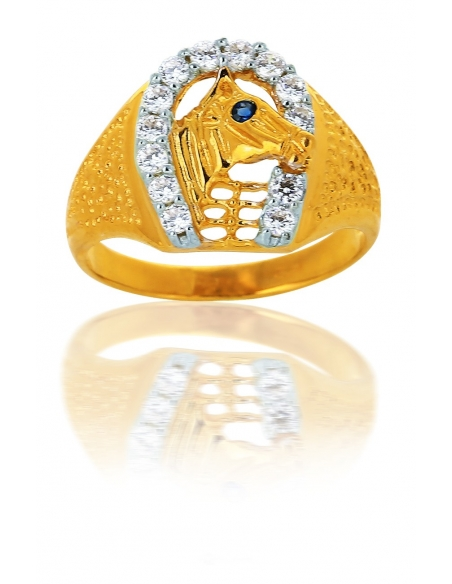 Chevalière Cheval Or 18 Carats