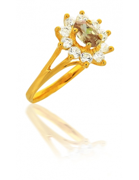 Bague Ambre Or 18 Carats