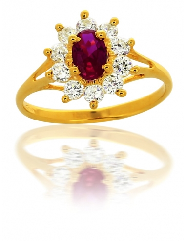Bague Rouge Or 18 Carats