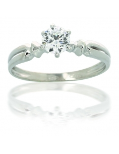 Solitaire Or Blanc 18 Carats