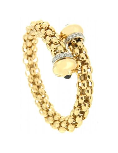Bracelets Esclave  Winzer Or 18 Carats et Saphir