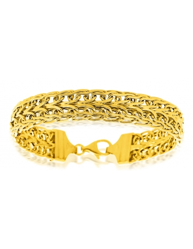 Bracelet Maille Haricot Or 18 carats
