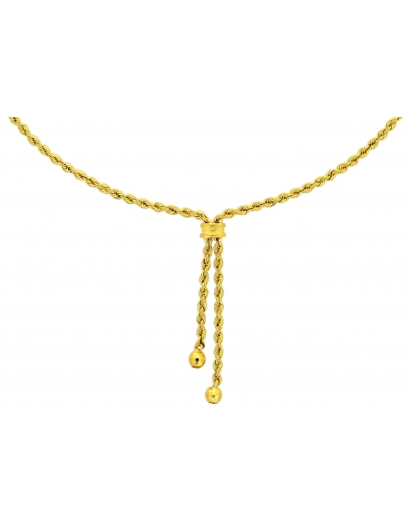 Collier Corde Boule Or 18 carats