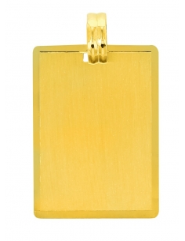 Pendentif Plaque Or 18 carats