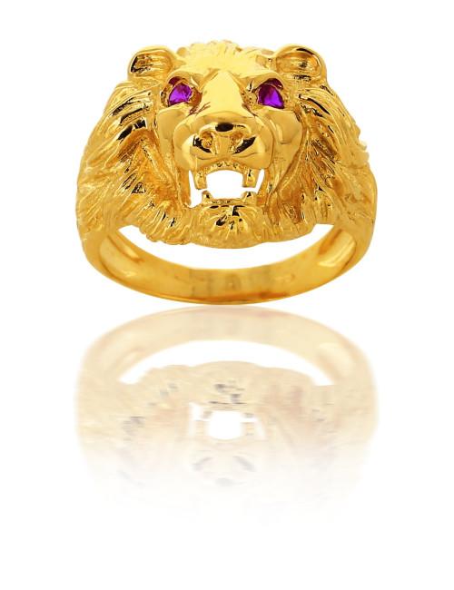 Chevalière Lion Or 18 Carats