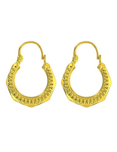 Boucles d'oreilles or jaune 750