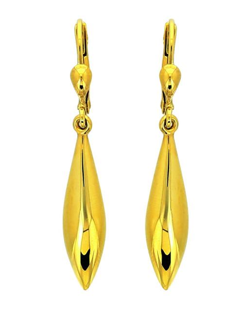 Boucle d'Oreille Or Jaune 18 Carat pendantes