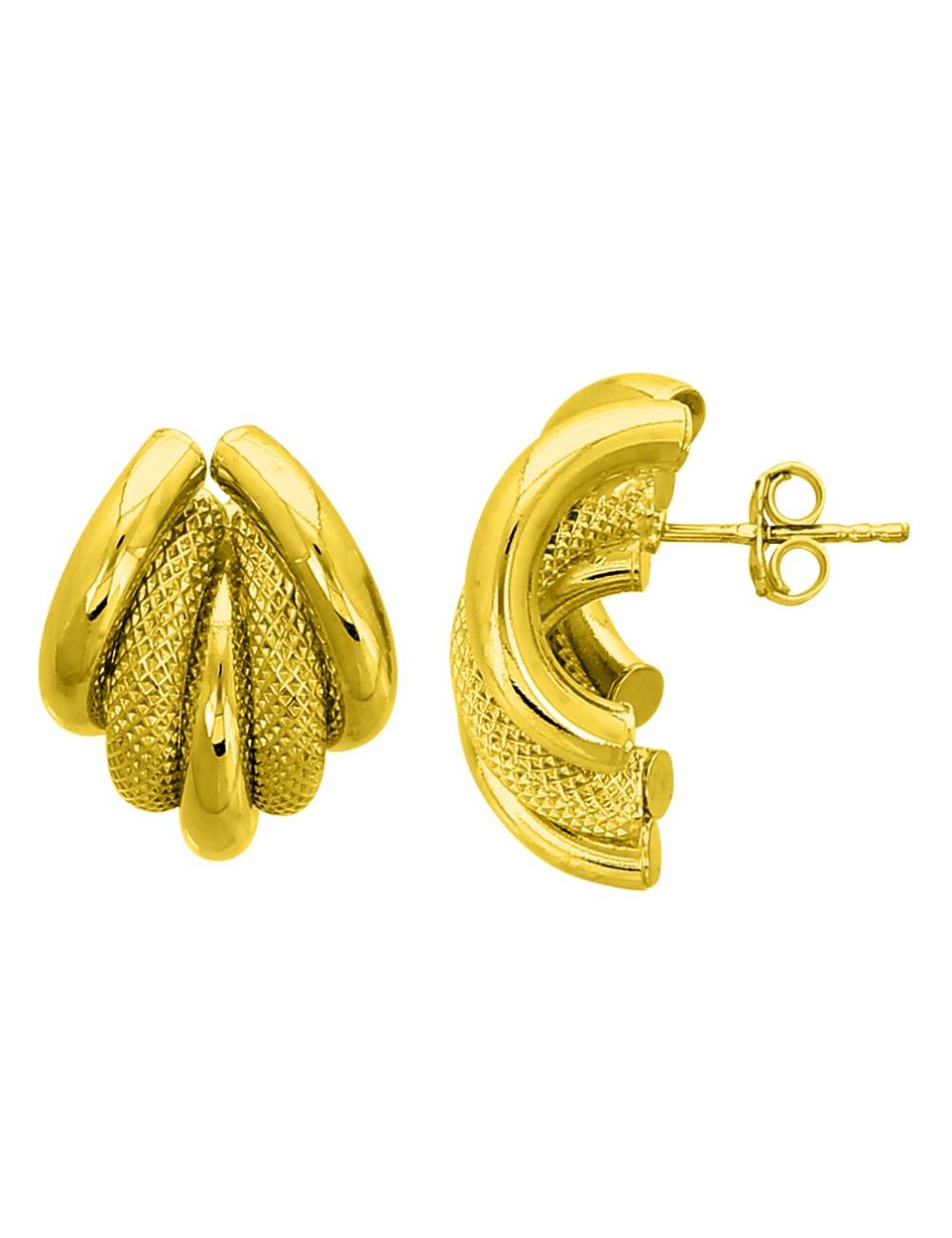 Boucle d'Oreille Or Jaunes 18 carats