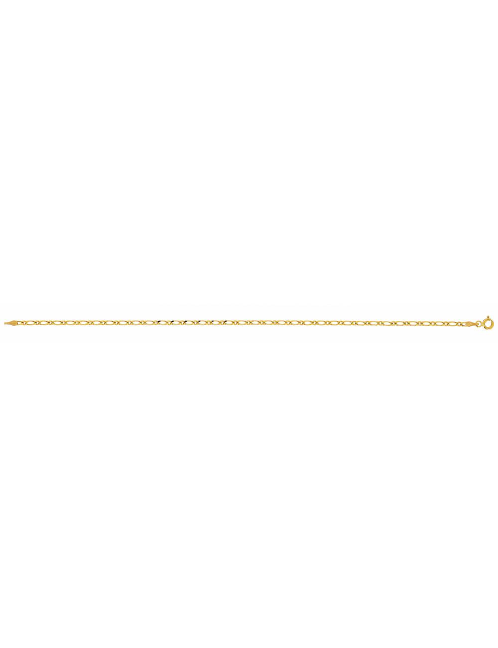 Bracelet Alterné Or Jaune 18 Carats
