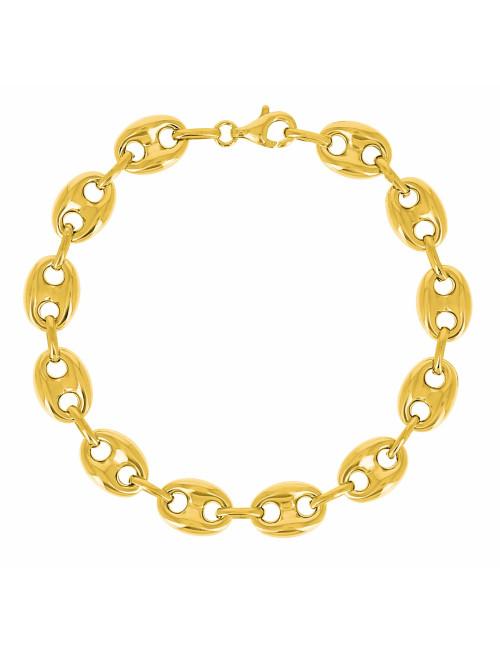 Bracelet Grain de Café Or 750/1000 homme bijoux pas cher