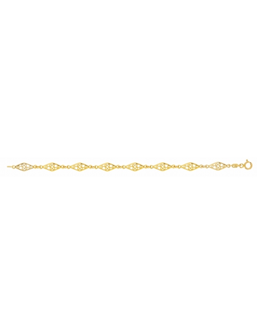 Bracelet Filigrane En Or Jaune 18 Carats