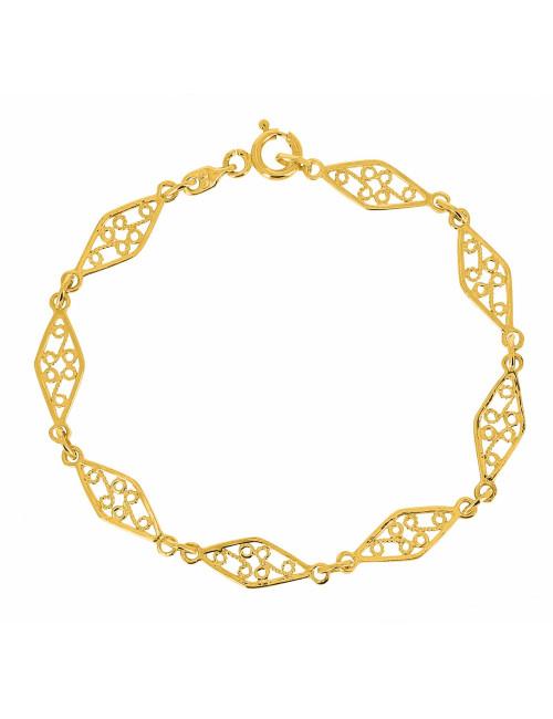 Bracelet Filigrane En Or Jaune 750/1000 femme bijoux pas cher