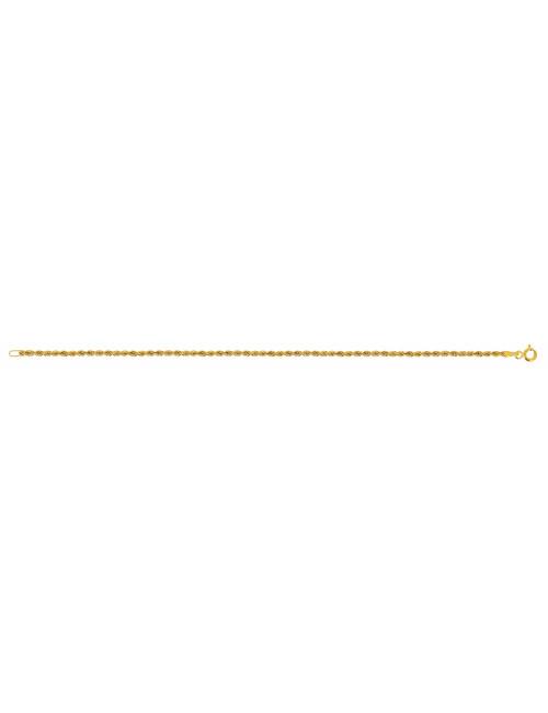 Bracelet Corde En Or Jaune 18 Carats