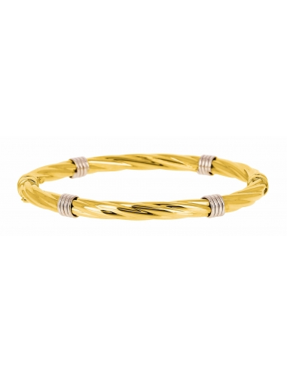 Bracelet Jonc Rigide 2 Ors Torsadé 18 carats