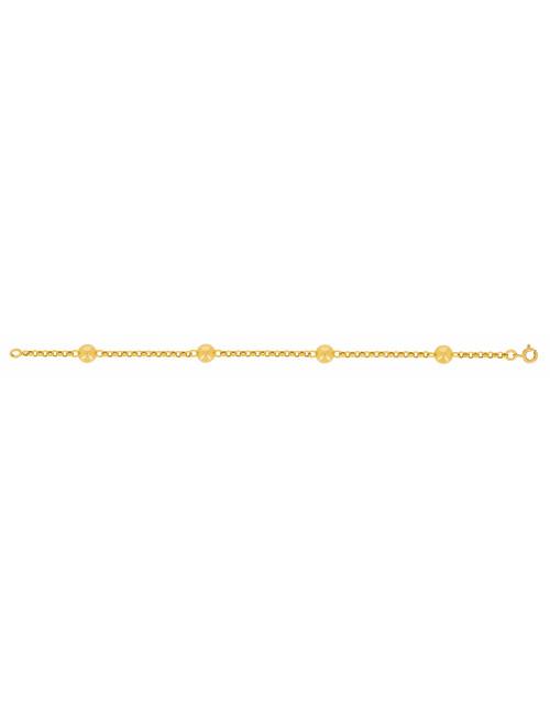 Bracelet Boule Or Jaune 18 Carats