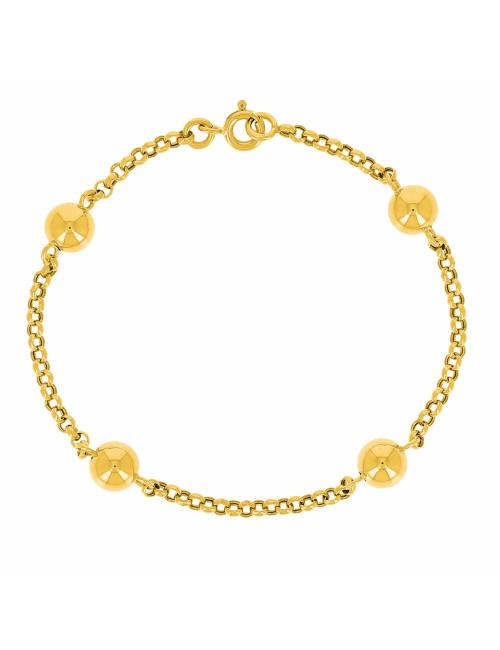 Bracelet Boule Or Jaune 750/1000 FEMME BIJOUX