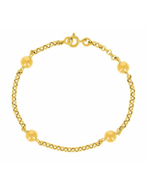 Bracelet Boule Or Jaune 750/1000 femme pas cher