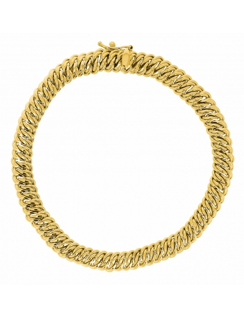 Bracelet Maille Américaine En Or 750/1000 PAS CHER