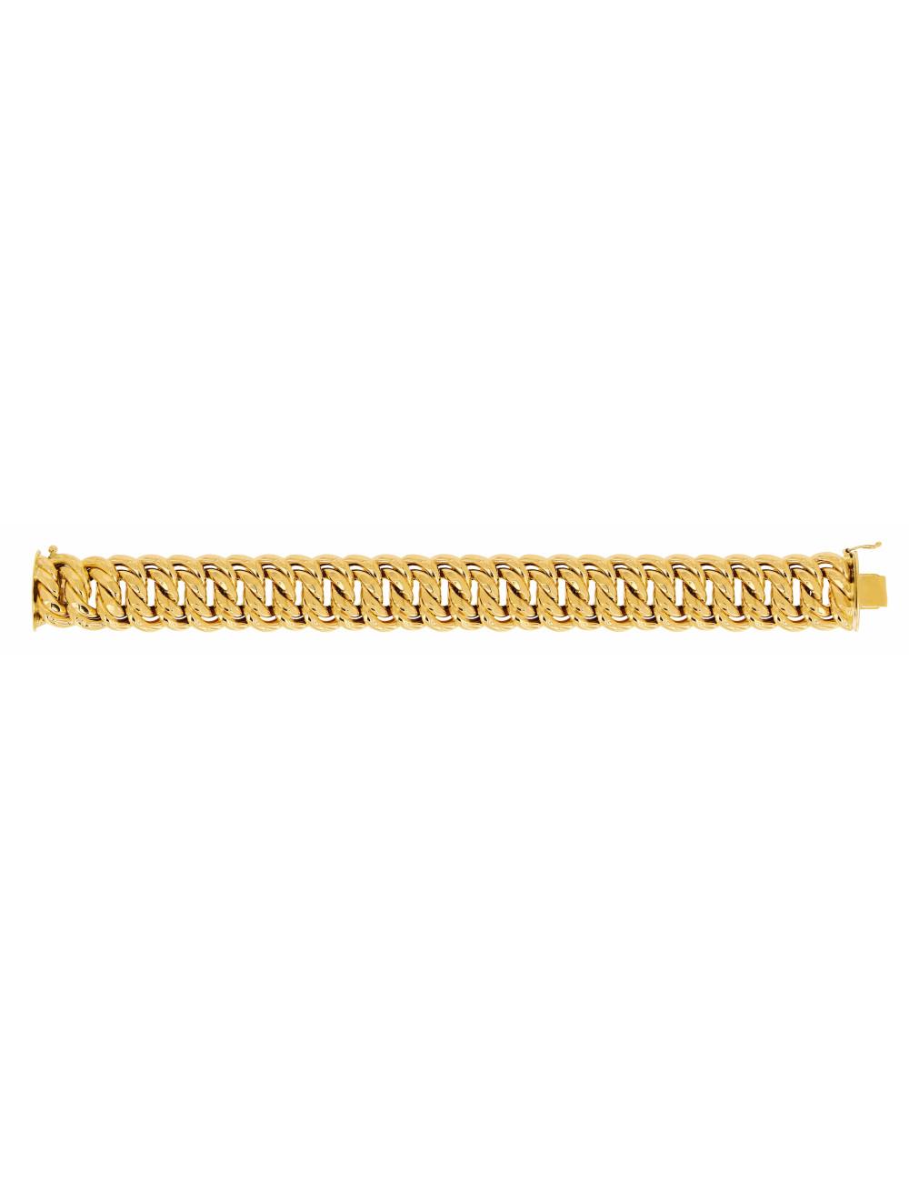 Bracelet Maille Américaine En Or 18 Carats