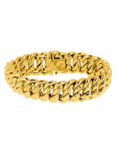 Bracelet Maille Américaine En Or jaune 750/1000