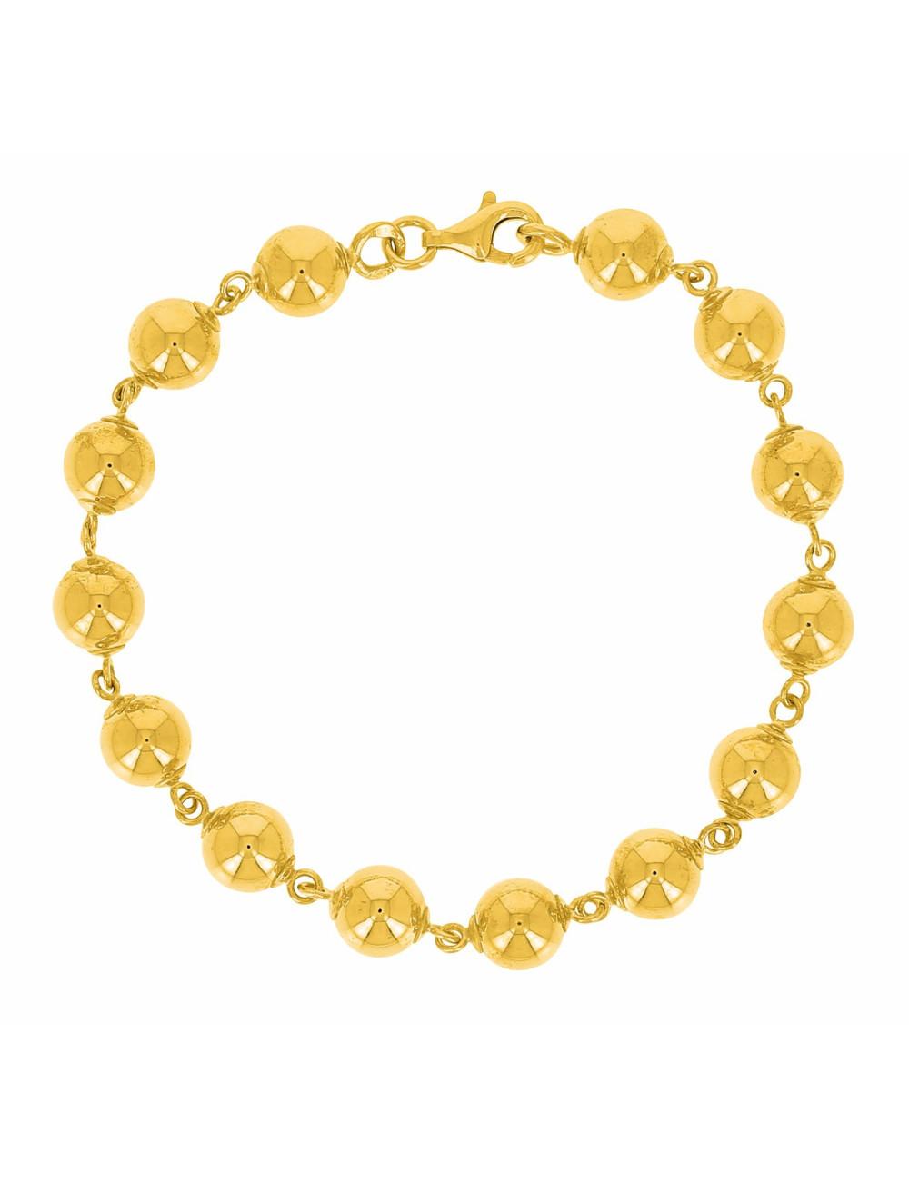Bracelet Boule Or Jaune 750/1000 bijoux