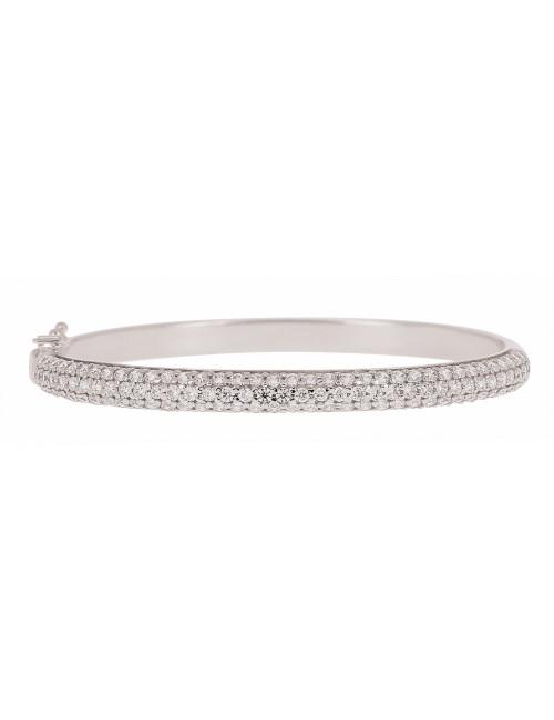 Bracelet Esclave Or Blanc 18 Carats