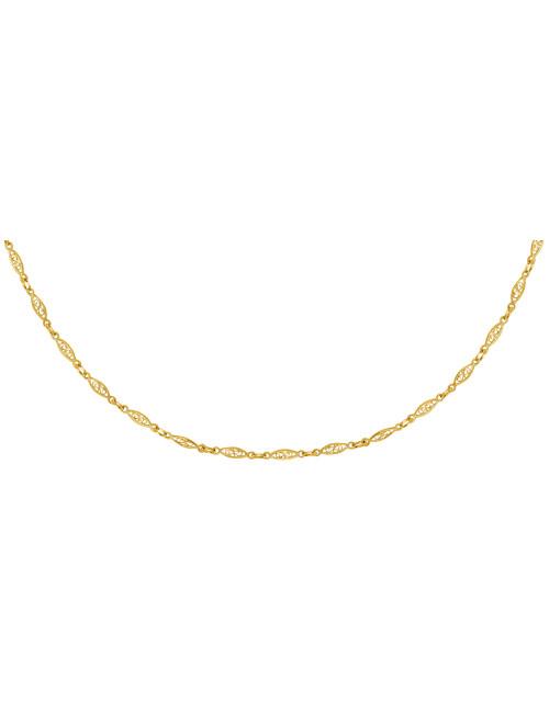 Collier Filigrane En Or Jaune 18 Carats 70 CM