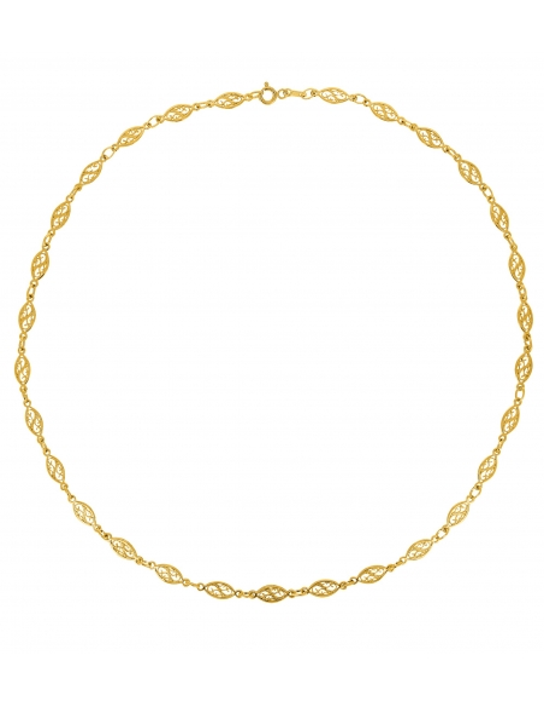 Collier Filigrane En Or Jaune 18 Carats 50 CM
