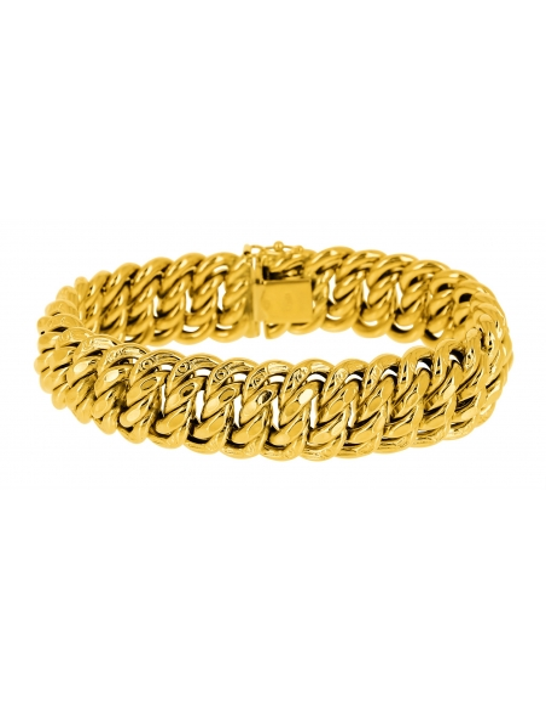 Bracelet Maille Américaine En Or 750/1000