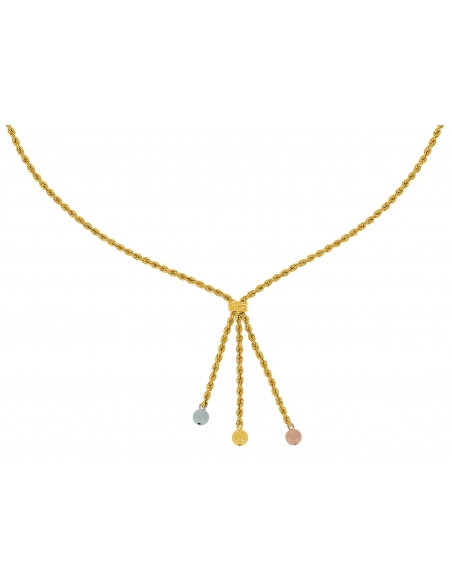 Collier Corde Pampille 3 Ors 18 Carats