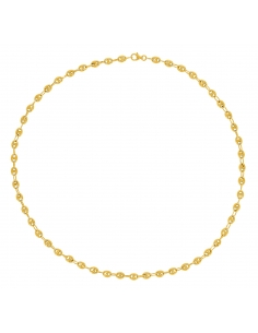Collier Grain De Café Or Jaune 18 Carats