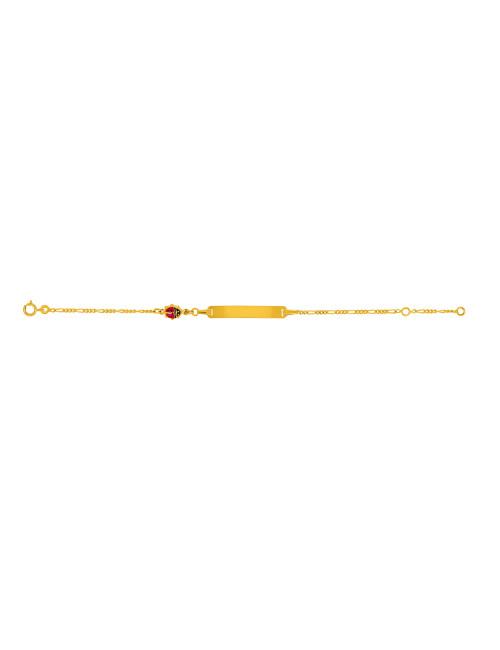 Bracelet Identité Bébé Alterné 1/3 Or Jaune 18 Carats