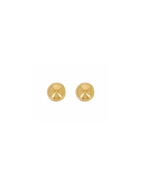 Boucles d'oreilles Boule 3 mm Or 18 Carats