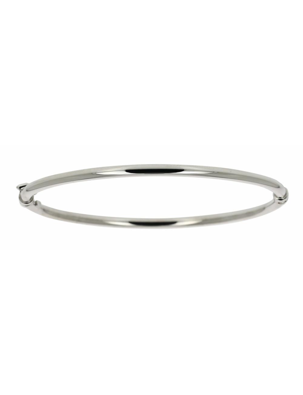 Bracelet Esclave Lisse Or Blanc 18 carats