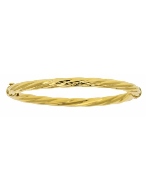 Bracelet Esclave Torsadé Or 18 Carats