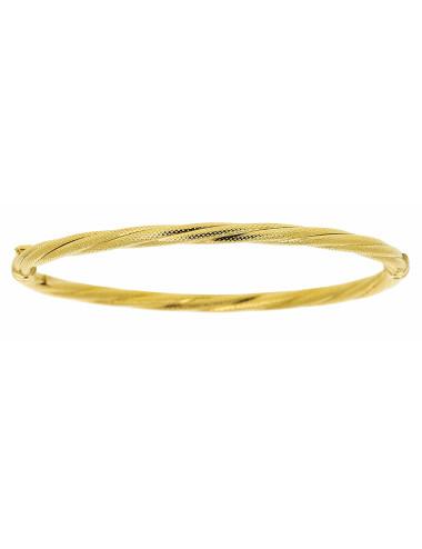 Bracelet Esclave Torsadé Satiné Or 18 carats