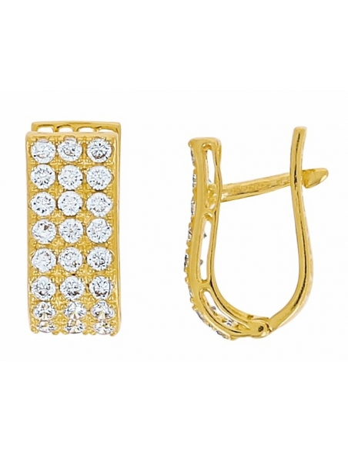 Boucles d'Oreilles Or Jaune 18 carats