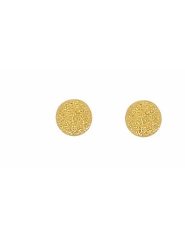 Diamètre 5.6 mm Boucles d/'oreilles boule en or jaune
