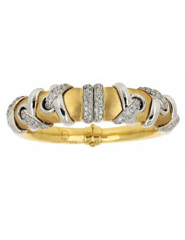 Bracelet Esclave Zirconium et Or 18 carats