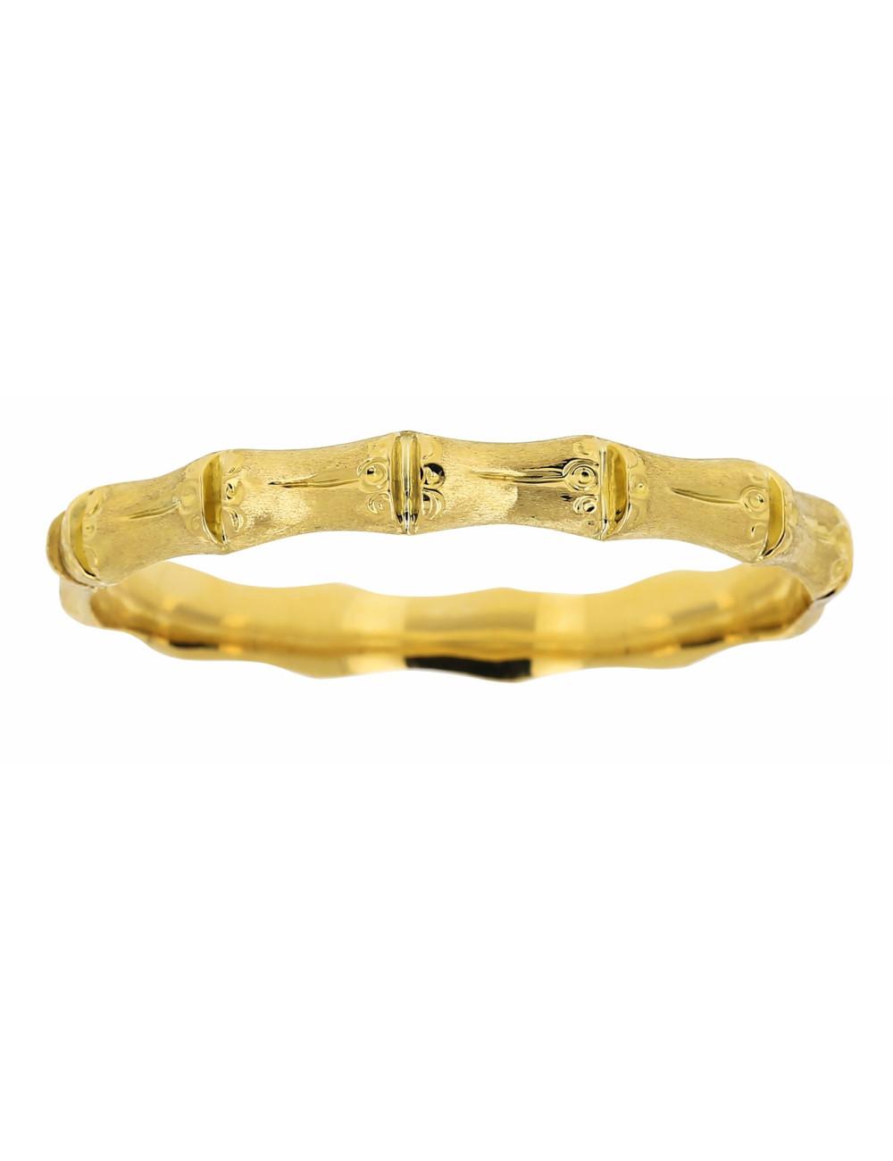 Bracelet Maille Bambou Or Jaune 18 Carats