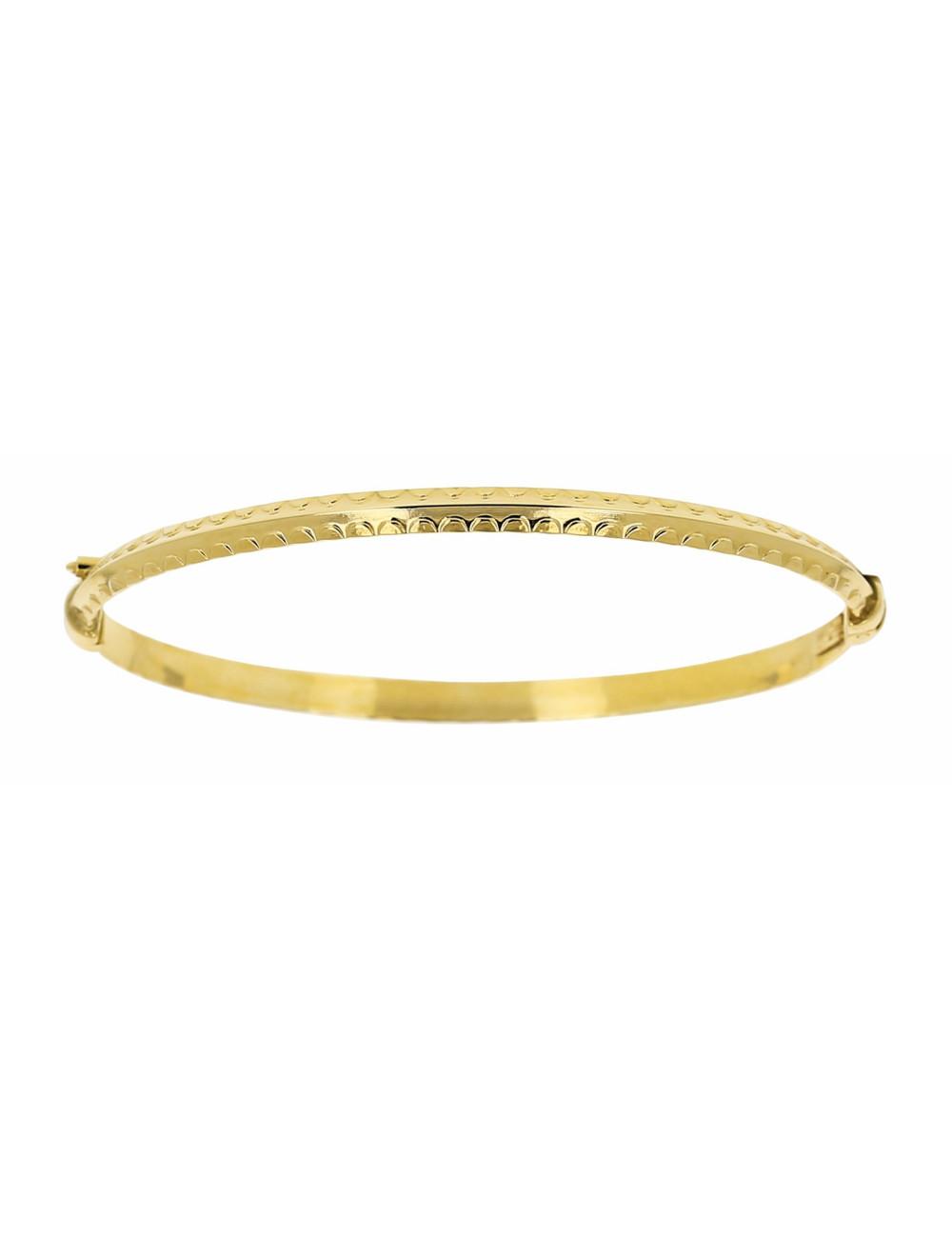 Bracelet Bébé Jonc Strié Or Jaune 18 Carats