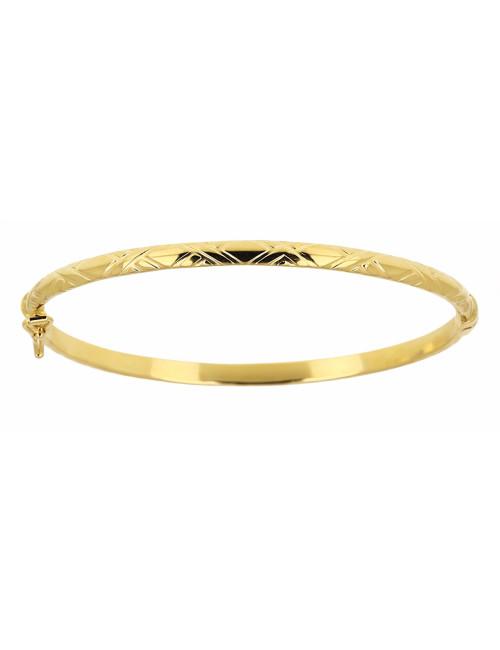 Bracelet Esclave Bébé Strié Or 18 carats