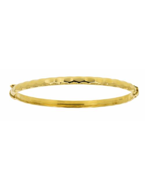 Bracelet Bébé Strié Taillé Or Jaune 18 Carats