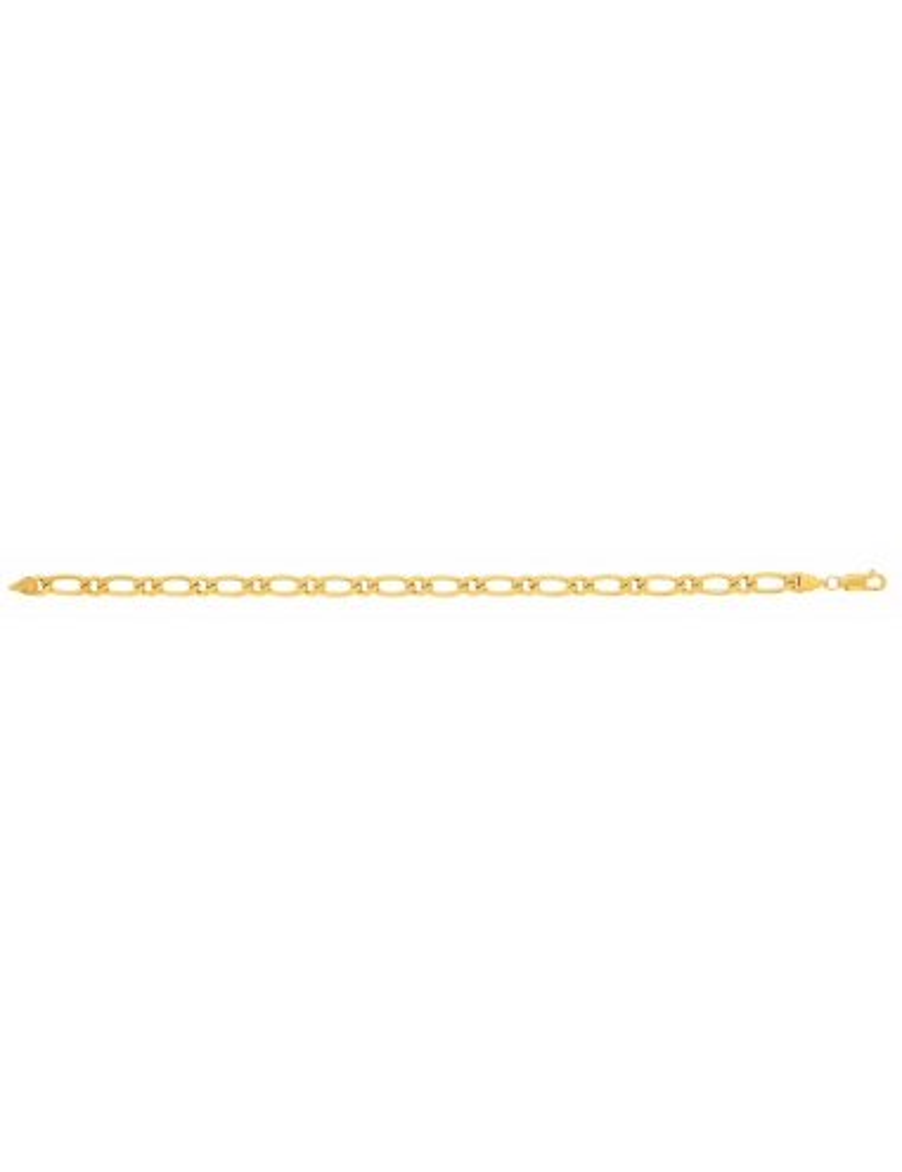 Bracelet Maille Alternée 1/1 Or Jaune 18 Carats