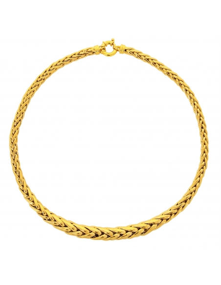 Collier Chute Palmier Or Jaune 18 Carats