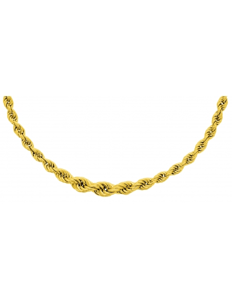 Collier Corde Chute Or Jaune 18 Carats