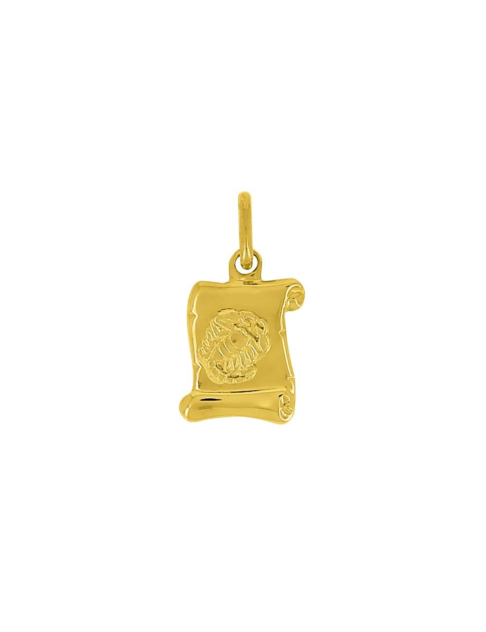 Pendentif Signe Du Zodiaque Bélier Or Jaune 18 Carats + Chaine Or Jaune 18 Carats Offerte