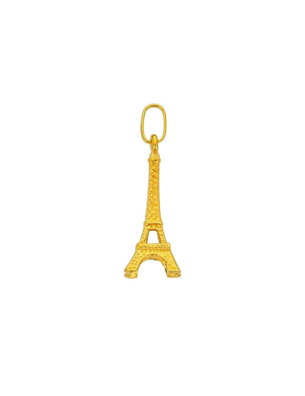 Pendentif Tour Eiffel Or Jaune 18 Carats + Chaine Or Jaune Offerte
