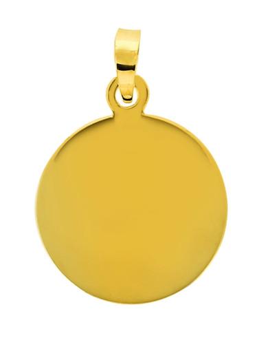 Pendentif Plaque Or Jaune 18 Carats + Chaine Or Jaune OFFERTE